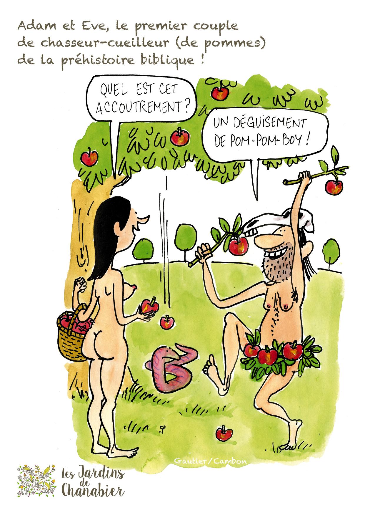 Cartes humoristiques des plantes de la Bible réalisée par Alamarge Production en exclusivité pour Les Jardins de Chanabier